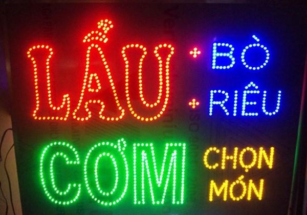 mẫu đèn led quán ăn