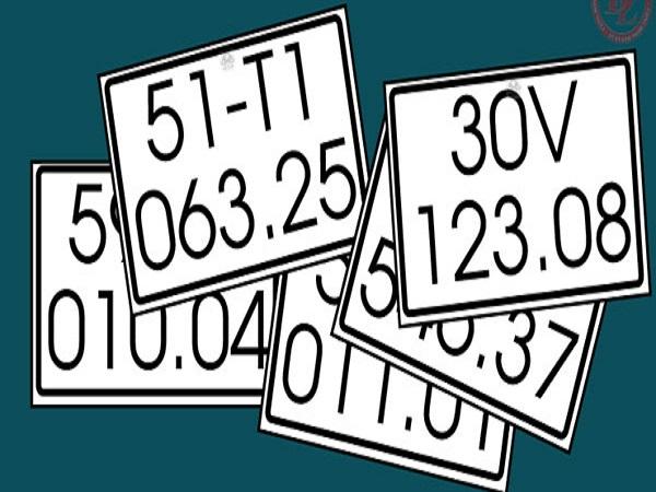 Các loại biển số xe